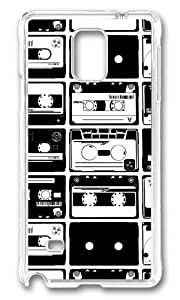 Adorable Cassette Collage Hard Case Protective Shell Cell Phone HTC One M8 - PC Transparent