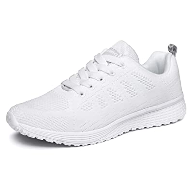 quality design d4b6a 634fd YCN Homme Femmes Baskets de Courses Basses Athlétique Marche Filets Chaussures  Sport Run Baskets