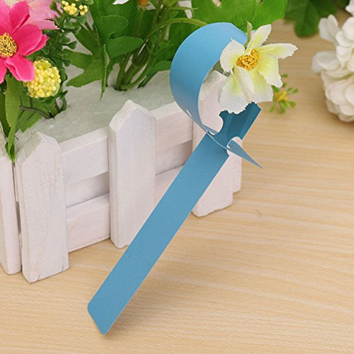 Accessories 100Pcs Garden Plant Pot Markers Plastic Stake Tied Tag Court Nursery Seed Labels Flower Yard Court Plant Labels Decor Hot - (Color: Blue)