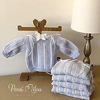 Chambrita de bebé azul/regalo recién nacido/ropita de bebé/babyshower/bautizo/niño/niña
