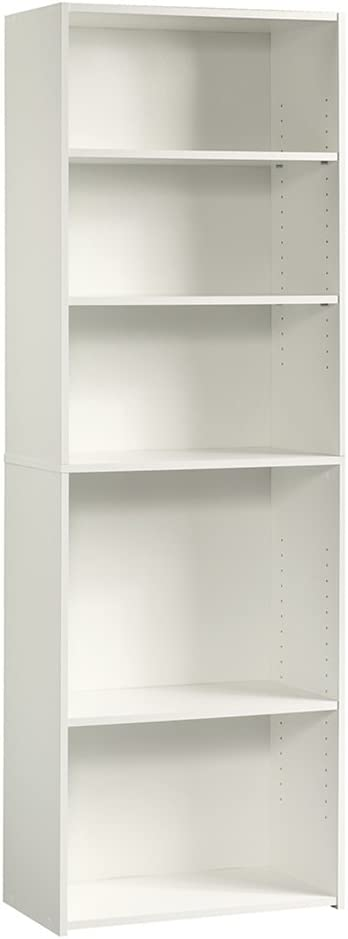 Sauder Beginnings 5-Shelf Bookcase, Soft White finish