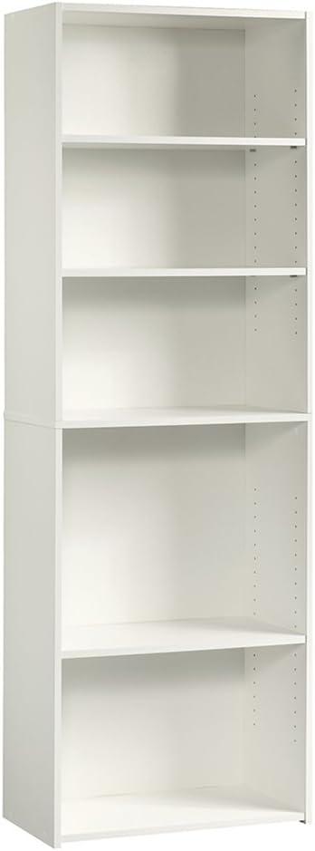 Sauder Beginnings 5-Shelf Bookcase, Soft White finish