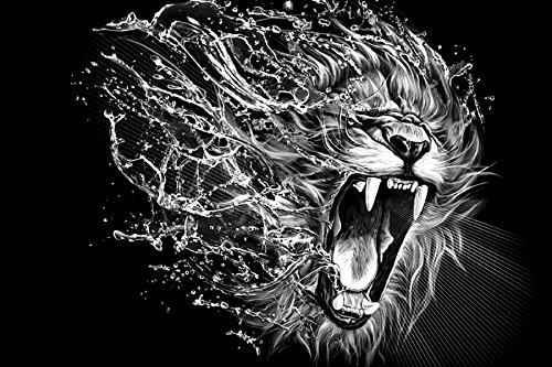 Leo Lion Abstract Fantasy Wild Natural Animal Art Canvas Wall Poster Print Picture For Gift (Leo Stencil)