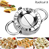 Dishwasher Safe Stainless Steel Dumpling Mould Pierogi Ravioli Empanada Maker Press - Best Kitchen Utensils Tool Wrapper Pastry Dough Cutter Kitchen Accessories (Small - (7.6cm/3''))
