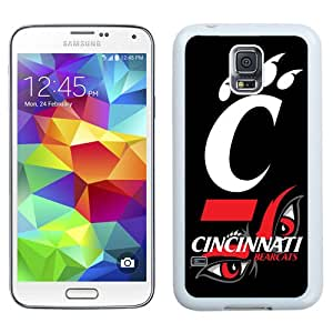 Beautiful Designed With NCAA American Athletic Conference AAC Football Cincinnati Bearcats 8 Protective Cell Phone Hardshell Cover Case For Samsung Galaxy S5 I9600 G900a G900v G900p G900t G900w Phone Case White
