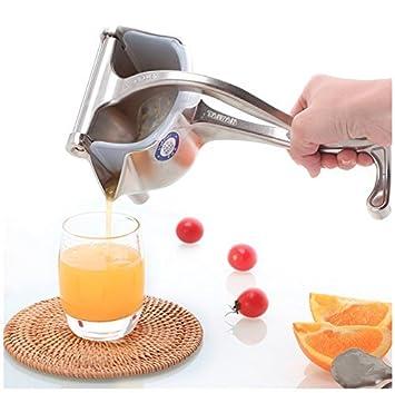 Extractor manual de acero inoxidable 304 para exprimidor de frutas, limón, naranja, lima, con cuenco y colador de exprimidor: Amazon.es: Hogar