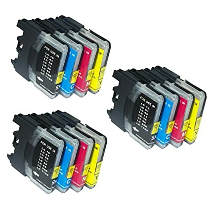 UCI BI lc985 [ 12 tinta=3 x Set ] Compatible tinta cartuchos reemplazo For Brother DCP J125, Brother DCP J315W, Brother DCP J515W, Brother MFC ...