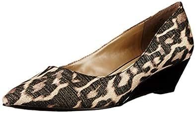 Bandolino Women's Yara Fabric Low Wedge, Light Gold/Multi, 6 M US