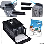 Travel Safety Pack for DJI Mavic Pro - For 2 Batteries - Includes: LiPo Safety Bag, 2x Battery Port Cover, 1x Charge Port Cover and Travel Instructions - Ideal Protection Kit for Travel by Airplane