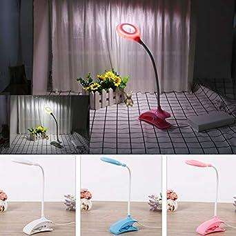 TOIND LED Flexible USB Clipper Clip Lámpara de escritorio Niños ...