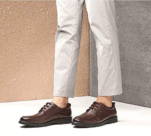 comode in stringate da uomo 7 US HhGold Marrone Nero uomo Scarpe Scarpe UK Colore per pelle per Dimensione uomo casual d'affari 6 tPnqgw