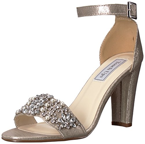 Bridal Shoes Jeweled (Touch Ups Women's Felicity Heeled Sandal, Champagne, 6.5 M US)