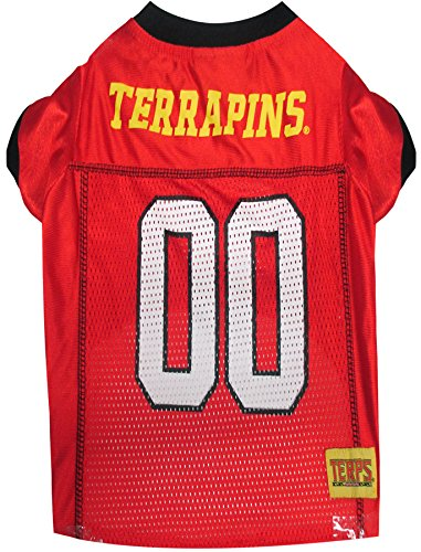 picture of Pets First Collegiate Maryland Terrapins Dog Mesh Jersey, Large