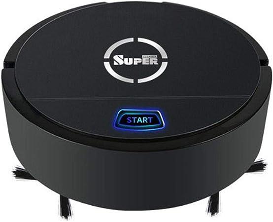 heummyo Aspirador Robot, Aspiradora automática Recargable Inteligente por inducción USB, Aspirador robótico Delgado, silencioso y de succión Fuerte para Piso (Negro): Amazon.es: Hogar