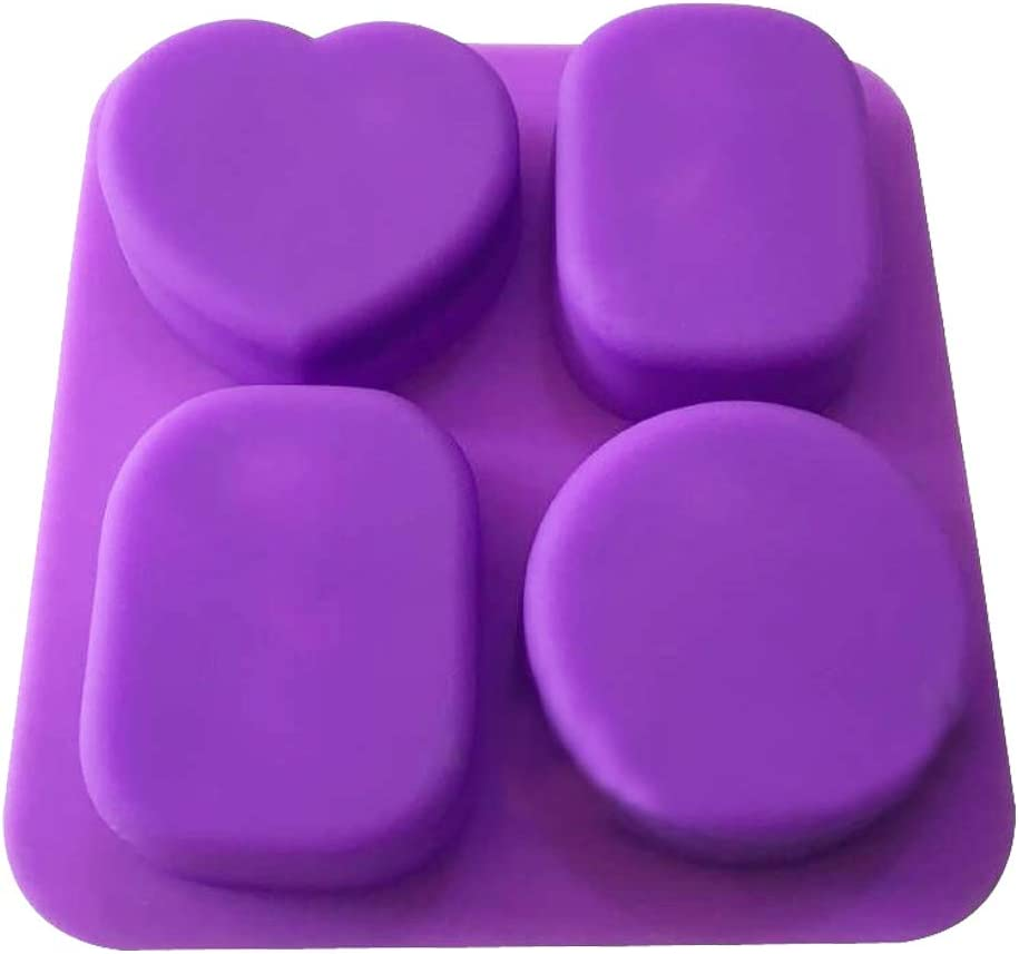 WYD 4 Holes Lovely Angel Fairy Silicone Molds Chocolate Cake Jelly Candle Mold Handmade Soap Molds