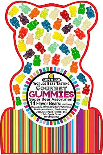 Worlds Best Tasting Gourmet Gummies Super Bear Assortment 14oz