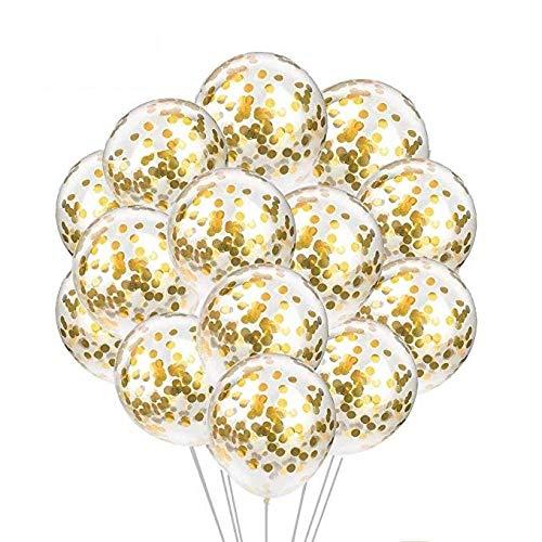 Globo de confeti de oro MSYOU, de 18 pulgadas, brillante ...