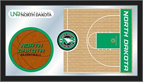 Dakota 26 Inch Bar Stool - Holland Bar Stool Co. North Dakota Fighting Hawks HBS Basketball Framed Glass Wall Mirror (26
