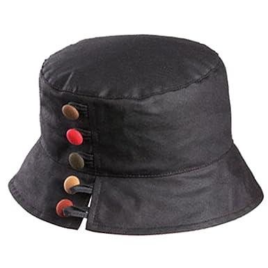 55fb71d3f18 Olney Olivia Ladies Wax Waterproof Hat (Black) at Amazon Women's Clothing  store: