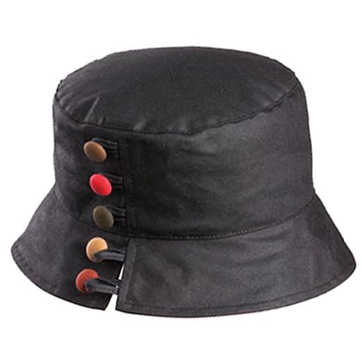 Olney Olivia Ladies Wax Waterproof Hat (Black) at Amazon Women s Clothing  store  d44c44b8e4c7
