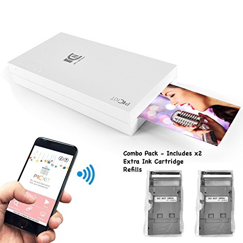 Apple iPhone, iPad and Smartphone Portable Mobile Camera Polaroid Photo Printer and 3 Cartridges Combo Pack - Produces 30 Instant Pictures - Wireless Connectivity and Instant Printing by SereneLife