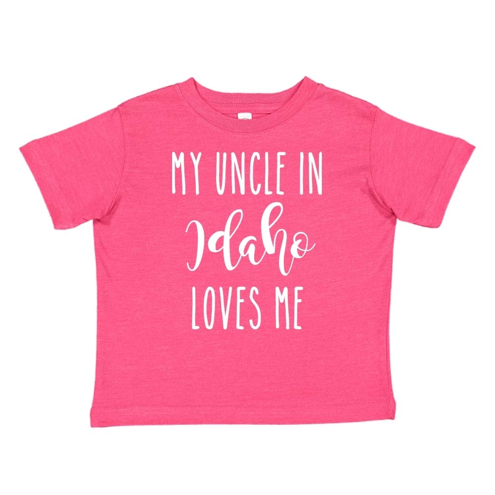 Toddler//Kids Short Sleeve T-Shirt My Uncle in Idaho Loves Me
