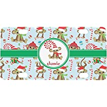 Christmas Monkeys Mini / Bicycle License Plate (Personalized)