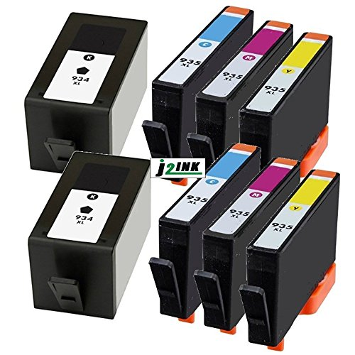 j2ink 8 unidades 934 X L 935 X L High Yield Cartuchos de tinta para HP OfficeJet 6812 6830 6815 6835 6230