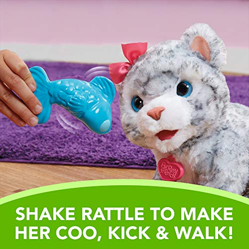 Furreal Soft Cuddly Electronic Flurry Snow Leopard Pet W