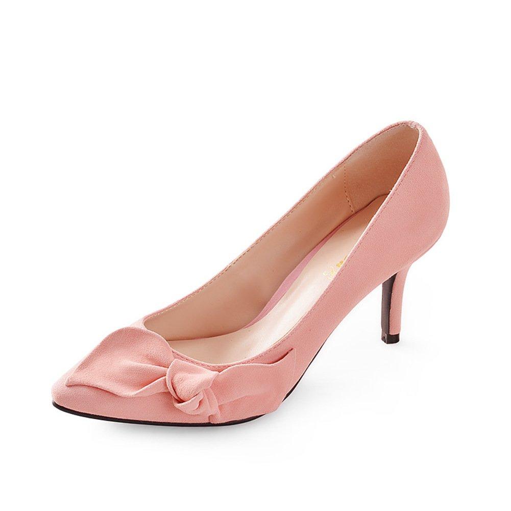 WLJSLLZYQ Mode Schuhen mit hohen Absätzen Sweet Bow leichte Damenschuhe im Frühling