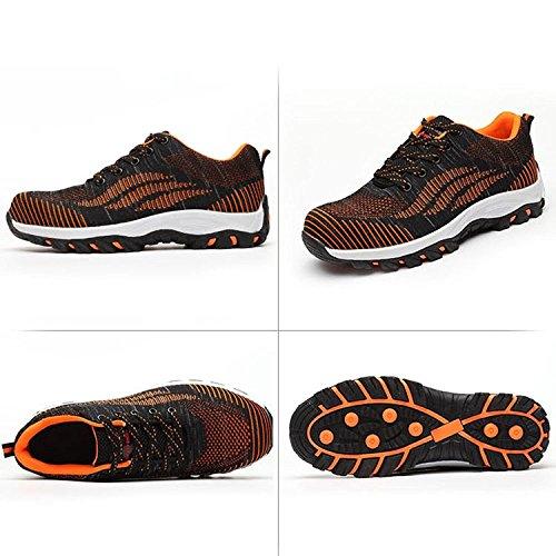 Arancione Lavoro Donna S1p Scarpe Antinfortunistiche Uomo Sportive In Di Sicurezza Da Punta Con Lily999 Acciaio RAUw16qWn