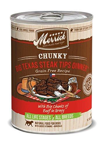 Cheap Merrick 12 Count Chunky Big Texas Steak Tips Dinner
