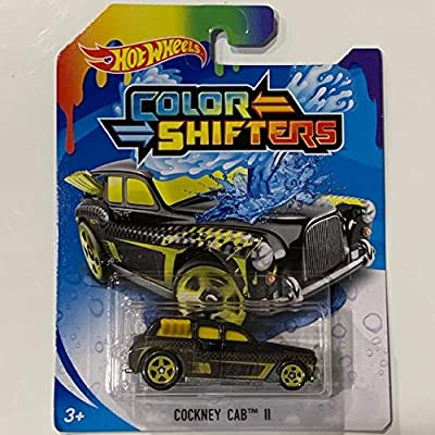 Hot Wheels Color Shifters Cockney Cab II, Black/Yellow: Toys & Games