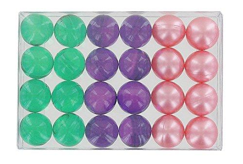 Box of 24 fantasy bath pearls - flower trio S&B