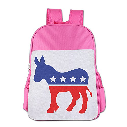 Price comparison product image Custom Democratic Donkey Children School Bag For 4-15 Years Old Pink
