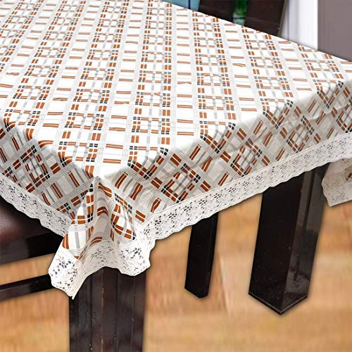 Yellow Weaves 6-Seater Plastic Dining Table Cover (60×90-inches, Beige) Price & Reviews
