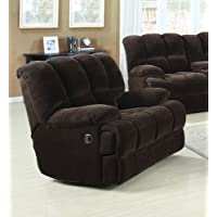 Acme 50477 Ahearn Rocker Recliner, Chocolate Champion