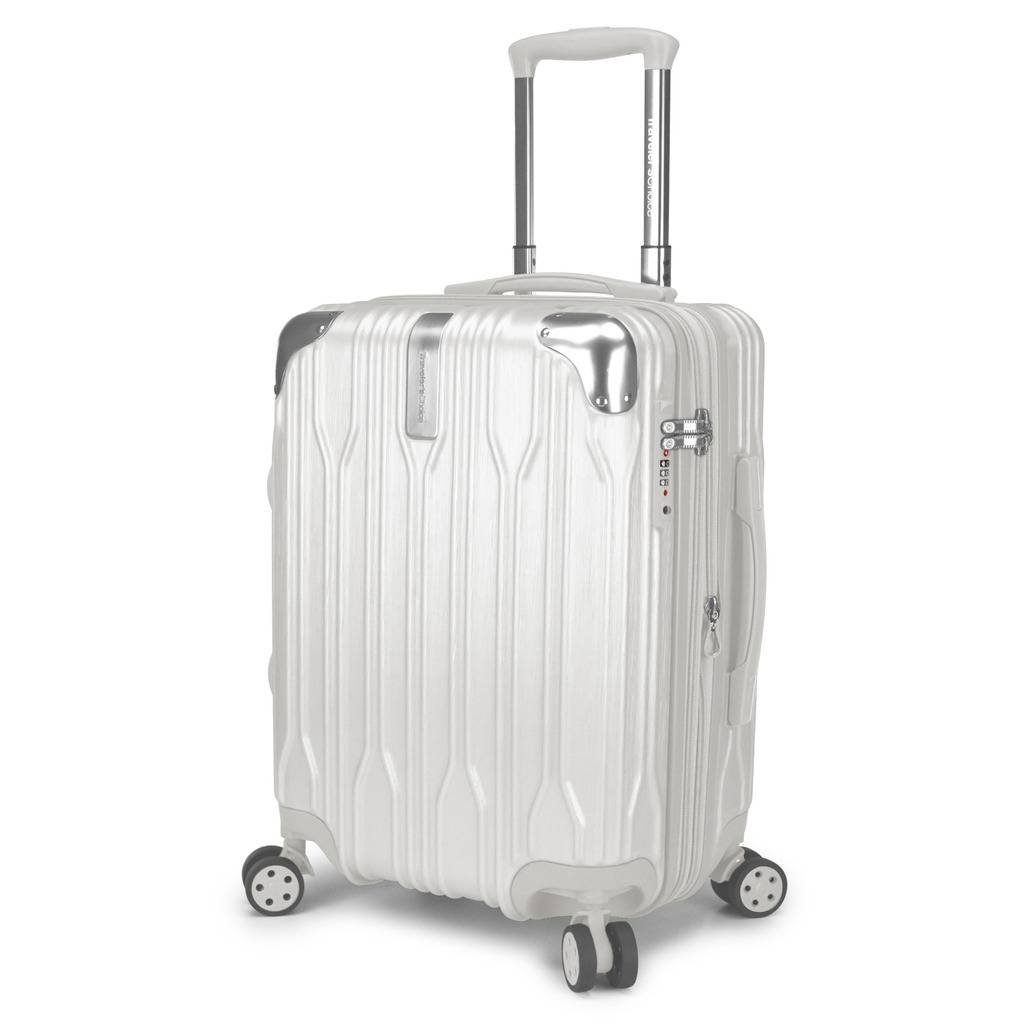 Traveler's Choice Bell Weather Expandable 20'' Spinner Luggage, White