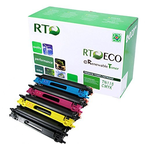 Renewable Toner Compatible Toner Cartridge Replacement for Brother TN115 TN-115 DCP-9040 9045 MFC-9440 9450 9840 HL-4040 4070 (Cyan, Magenta, Yellow, Black, ()