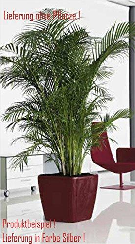 Blumenübertopf Quadro Premium, für Innen geeignet, Farbe Silber, 50x50x47cm
