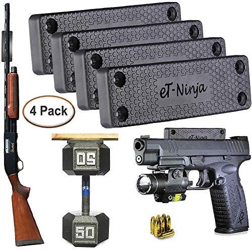 - Magnetic Gun Mount Holster 53lb. - Gun Magnet Mount - Discreet Tactical Concealed Carry Handgun Holder for Car Truck Under Desk Bedside Wall w/Anti Scratch Rubber Coating (4)