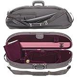 Bobelock Half Moon 1047V 4/4 Violin Case with Wine Velvet Interior