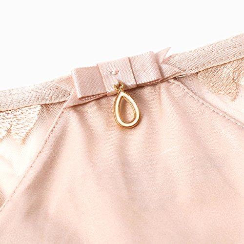POKWAI Sin Fisuras De La Camiseta De Las Mujeres Colgante Atractivo Del Cordón De Alambre Hilo De La Tentación De La Ropa Interior De La Ropa Interior De Cintura Baja Black