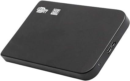 Homyl ブラックウルトラスリム2.5イン5Gbps高速USB3.0ハードドライブSATA PCラップトップキット - 500GB