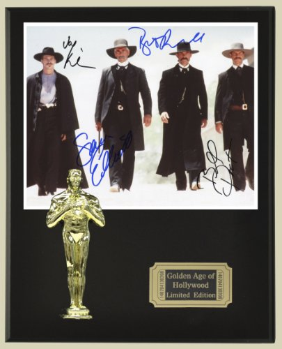 Tombstone Cast Signed Reproduction Autographed 8 x 10 Photo LTD Edition Oscar Movie Display from Gold Record Outlet