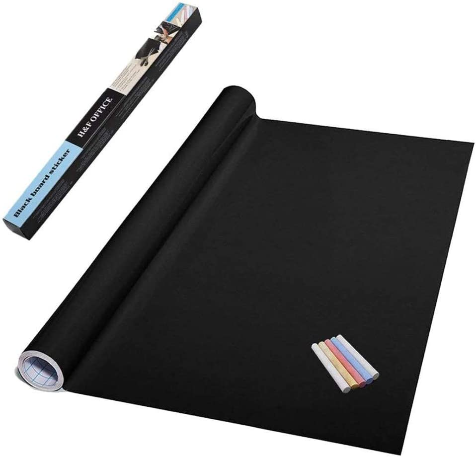kuaetily Lavagna adesiva da lavagna colore nero impermeabile