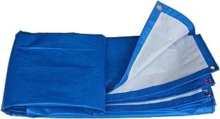AJZGF Tissu imperméable à l'eau imperméable Épaissir bâche imperméable à l'eau de bâche de Camping bâche de Protection Solaire Anti-corrosif Anti-Gel de Tissu, Bleu