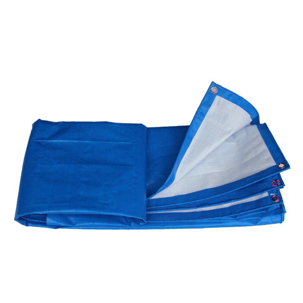 CAOYU Verdicken Sie Plane Wasserdichte Plane, die Mattenschutzcreme des Sonnenschutzes Anti-Frostschutz, blau häutet