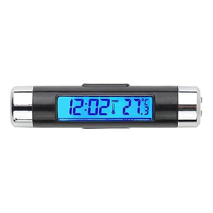 Termómetro del Coche, CHRONSTYLE LCD Reloj Digital de Luz Tiempo Termómetro Electrónica Portátil Mesa de
