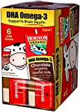 Horizon Organic Low Fat Organic Milk Box Plus DHA Omega-3, Chocolate, 6 Count (Pack of 3)